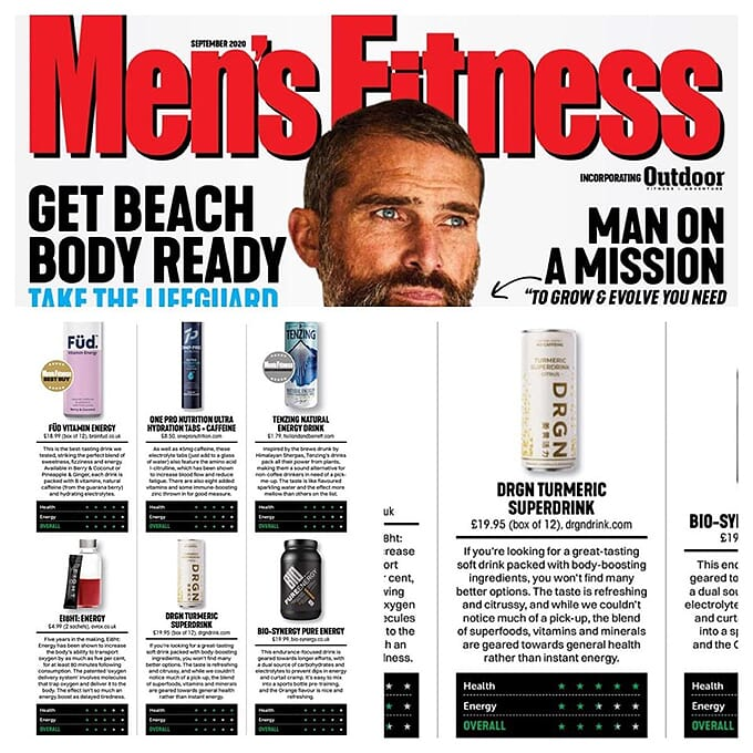 DRGN Drink Website Home Page Mens Fitness