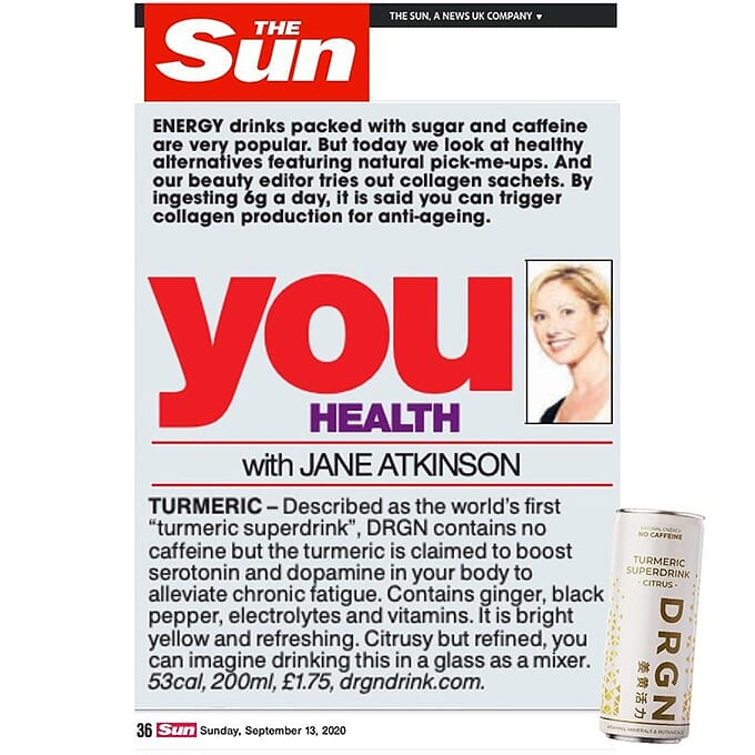 DRGN Drink Website Home Page The Sun 1